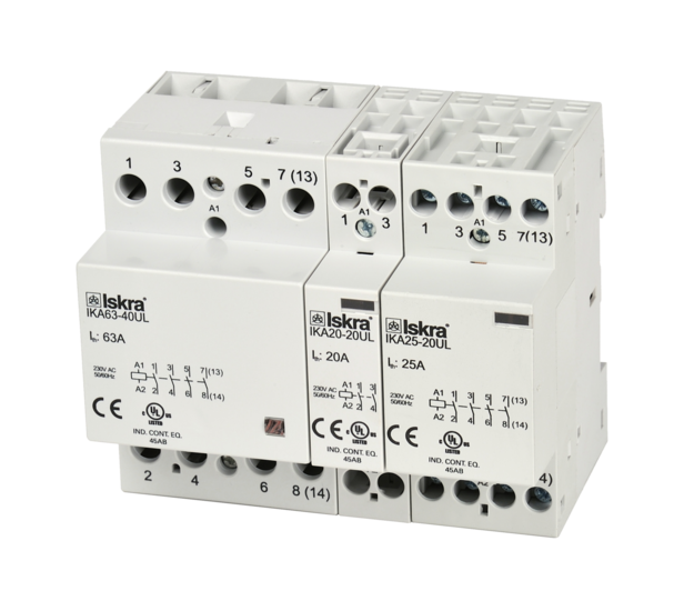 Installation contactors up to 63 A (IK UL)