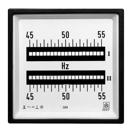 Reed Frequency Meters ZQ
