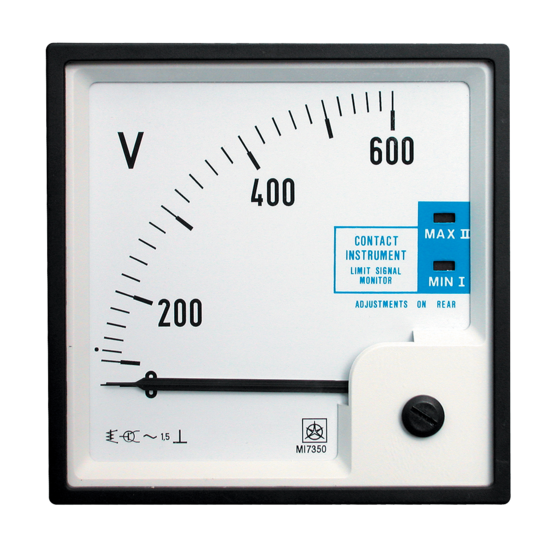 Meter with Limit Contact